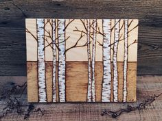 Birch Trees I by SheetsAndSlices on Etsy