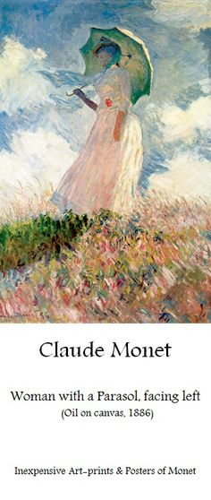 Claude Monet, Woman with parasol | Affordable art-prints & posters of Monet