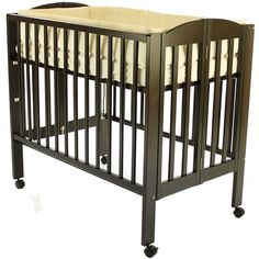 Dream On Me 3 in 1 Folding Portable Crib, Espresso - 683E