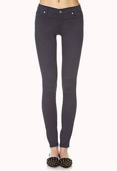 Must-Have Skinny Jeans | FOREVER21 - 2000074250 $16 burgundy!