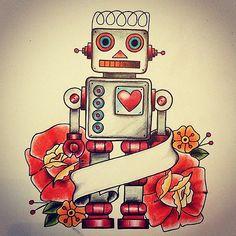 robot tattoo - Google zoeken                                                                                                                                                      More