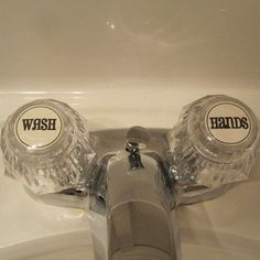 Free printable for faucets! CUTE!