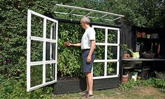Herb garden lean to idea Veg Garden, Edible Garden, Summer Garden, Garden Beds, Small Greenhouse, Greenhouse Plans, Greenhouse Gardening, Garden Structures, Outdoor Structures
