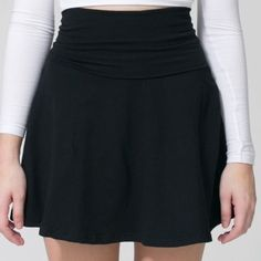 Black circle skirt  Simple and easy black circle skirt with fold over waist band  Ask for bundle discounts ❌ No trades/PP Basic House Skirts Circle & Skater