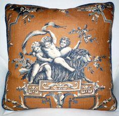 Beautiful VERVAIN CHERUB TOILE Pillow