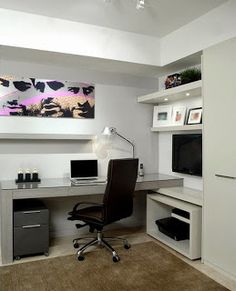 oficina moderna en casa