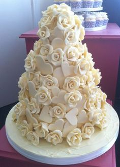white chocolate Roses and Hearts