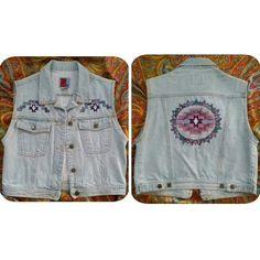 Vintage 80's Sun Belt Denim Native American Vest! Vintage 80's Sun Belt Denim Native American Vest! Made in Columbia. Size Medium. #vintage #denimvest #vest #nativeamerican #aztec #80s #sunbeltdenim #womensmedium #indian #lightdenim #embroidery #embroidered #aztecsun $30 SHIPPED (PayPal), $25 PICK UP (Whittier). Jackets & Coats Vests