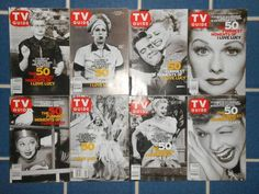 "8 Lucille Ball TV Guide Set ""The 50 Funniest Moments of I Love Lucy ~ RARE ~"