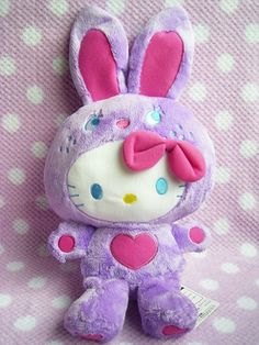 "Rabbit Bunny HELLO KITTY BIG Soft Plush doll Sanrio Japan Licensed NWT Purple : *Condition* NEW Released by Sanrio JAPAN x FuRyu *Size* About  "" ( cm) in sit 39.99-51.99 (15/17/23)"