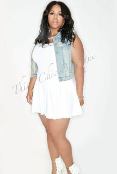 White Denim - #style - http://curvy.fashion/2015/04/08/white-denim ...