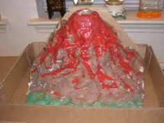 Volcano experiment uses all areas for learning. Children will read while following directions, use math for measurement skills, interact socially in groups as well as observe the volcano explode.