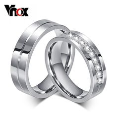 Platinum Plated Stainless Steel Wedding Engagement Ring //Price: $5.99 & FREE Shipping //     #fashionaccessories