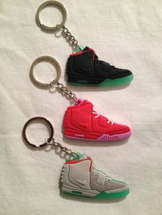 e7c51c6fb5444a YEEZY 2 SOLAR SNEAKER KEYCHAINS GLOW IN THE DARK (Red October does not glow  in