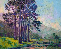 California impressionism landscape painting by modern artist Erin Hanson.