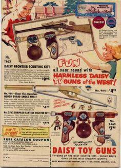 Vintage toy gun ad.