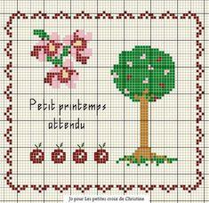 fleur - flower - arbre - point de croix - cross stitch - Blog : http://broderiemimie44.canalblog.com/