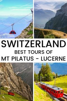 Guide To The Best Mt Pilatus Tours to book A guide to the best tour to Mt Pilatus in Switzerland. Find out which is the best tour to take for you.A guide to the best tour to Mt Pilatus in Switzerland. Find out which is the best tour to take for you. Europe Travel Guide, Backpacking Europe, Travel Tours, Travel Destinations, Overseas Travel, Travel Guides, Switzerland Cities, Visit Switzerland, Malta