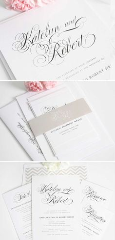 Neutral, delicate, and southern! These Southern Script wedding invitations are sure to make a statement! www.shineweddinginvitations.com/wedding-invitations/southern-script-wedding-invitations