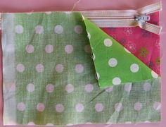Super easy tutorial for zippered pouch.