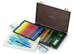 Künstler-Aquarellstift ALBRECHT DÜRER®, 48 Farben sortiert im Holzkoffer