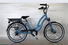 EG Maui EX Beach Cruiser Electric Bike - Glossy Metallic - Blue