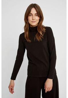 Tops - Laila Roll Neck Top in Black Roll Neck Top, Wardrobe Staples, Hand Weaving, Turtle Neck, People, Black, Tops, Women, Style