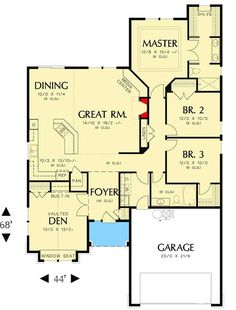 Arts and Crafts Cottage - 6932AM | Architectural Designs - House Plans
