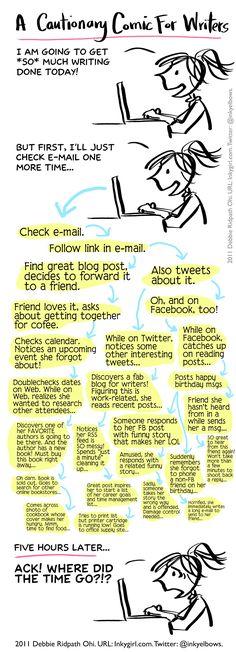Cautionary comic for writers (andillustrators!) - Inkygirl: Guide For Kidlit/YA Writers & Artists - via @inkyelbows