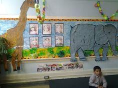 Children painted the animals..