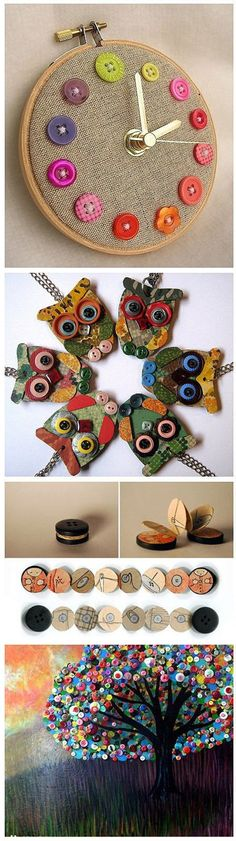 Beautiful Button Crafts | DIY  Crafts Tutorials