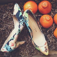 click to shop these floral print spring shoes!