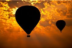 balloon and sunset