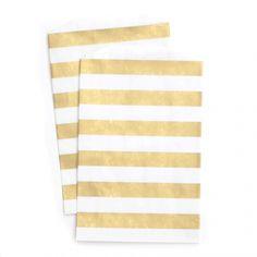 Medium Gold Stripe Bags $3.00 per pack of 10