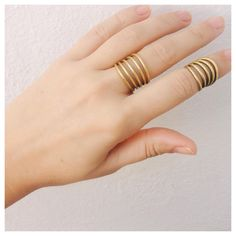 Nothing beats the simplicity and fun layered ease of our handmade Coil Rings #WearTheChange