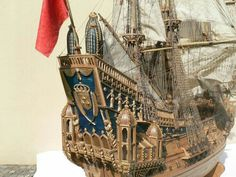 Model Sailing Ships, Model Ships, Sailing Boat, Wooden Ship, Tall Ships, Scale Models, Images, Miniatures, Antiques