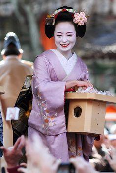 Setsubun Mamemaki festival by Teruhide Tomori (busy in Tokyo), via Flickr