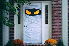 Halloween Mummy Front Door