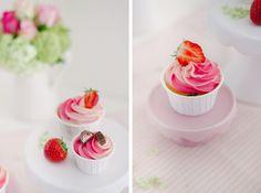"""Sommerliche """"Softeis - Cupcakes"""" mit Yogurette"""