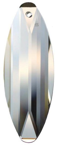 Surf Kristall Pendel 50mm 1 Loch - SWAROVSKI ELEMENTS - premium-kristall