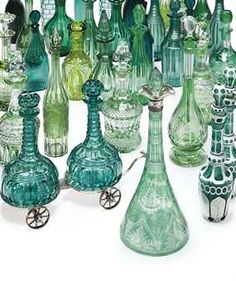 a Christie's auction of 23 green decanters - I guess I'm not the only one with a weakness for green glassware $36,250