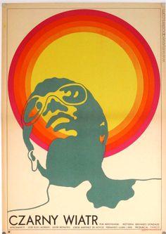 Designer: Andrzej Krajewski Czarny Wiatr - Film Poster - polish poster art & design
