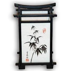 Lámpara japonesa - Nara, Bambú (Negro)