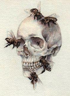 Watercolour Skull painting created by Ukrainian artist Nikolay Tolmachev Arte Com Grey's Anatomy, Anatomy Art, Anatomy Tattoo, Skull Anatomy, Art And Illustration, Art Inspo, Drawing Sketches, Art Drawings, Skeleton Drawings