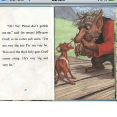 Ladybird Well Loved Tales - The Three Billy Goats Gruff Billy Goats Gruff, Childhood Stories, Fairytale Fantasies, Hobgoblin, Guidance Lessons, Good And Evil, Children's Book Illustration, Wizard Of Oz, Book Activities