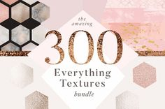 Ad: I've selected 4 of my very bestselling collections and bundled them up for one huge, extremely versatile set of all the textures you could possibly need :) Inside you'll find hundreds of handmade backgrounds, luxury textures, marbles, rose golds, metallic styles and so, so many more! Just mix & match, find your own style and start designing whatever your heart desires. $15