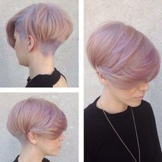 Pinkish lavender with heavy top.