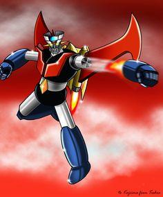 Mazinger Z Rocket punch by on deviantART Classic Cartoons, Cool Cartoons, Transformers, Sketch Manga, Battle Robots, Robot Cartoon, Japanese Robot, Alternative Comics, Otaku
