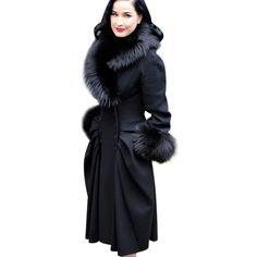 Vfemage Femmes D hiver Élégant Vintage Amovible Col De Fourrure Double  Breasted Épais Long Manteau Veste Outwear 148 dans Laine et Mélanges de  Mode Femme et ... db7e1713e4a