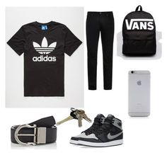 """""""Back to School outfit for teen boy"""" by keyasw on Polyvore featuring adidas, Acne Studios, Salvatore Ferragamo, NIKE, Avon, Vans, Native Union, men's fashion and menswear"""